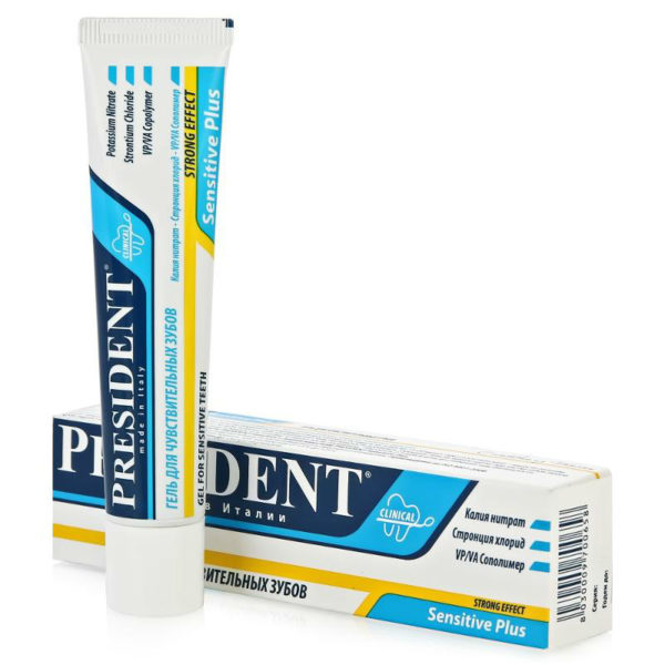 Гель President Sensitive Plus Clinical